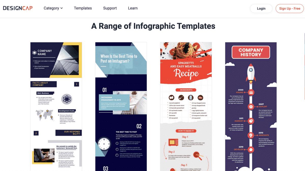 DesignCap infographic templates