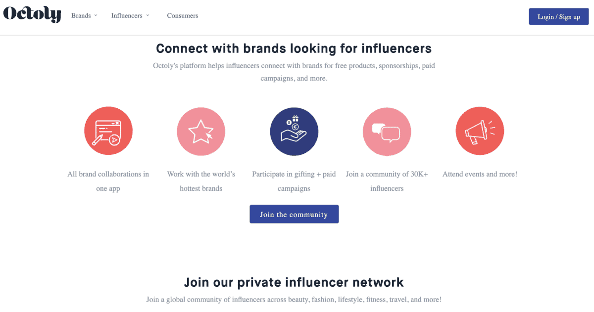 Octoly connect with brands looking for influencers