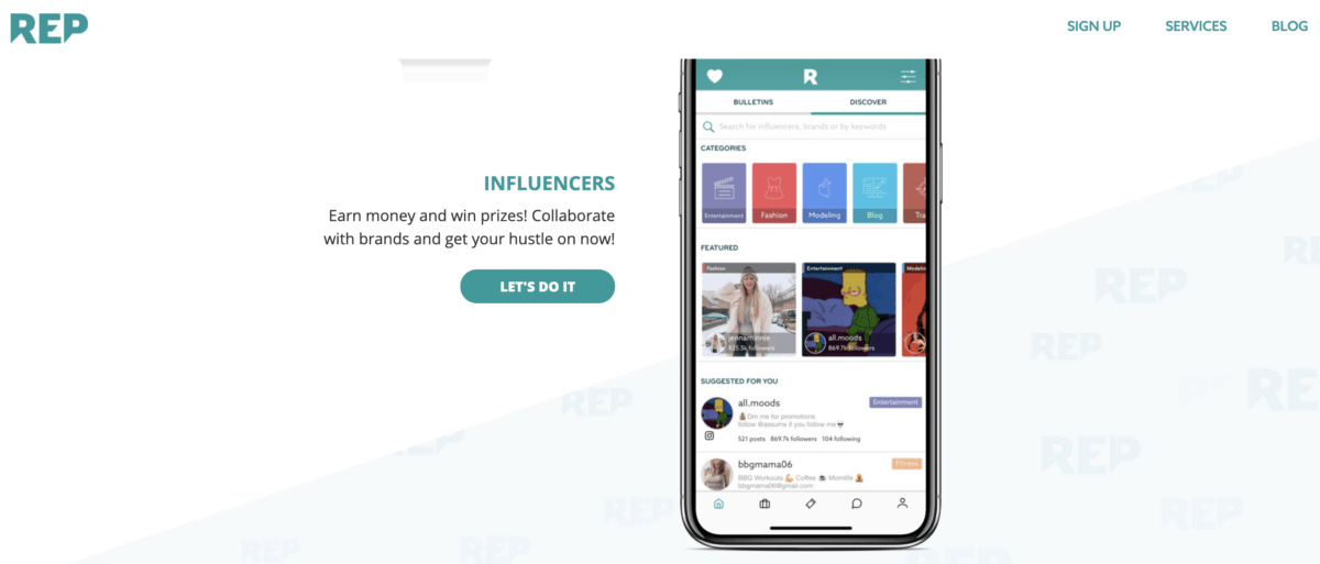 REP influencer app