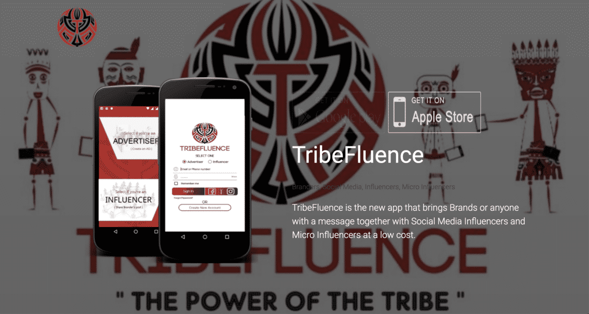 TribeFluence influencer app