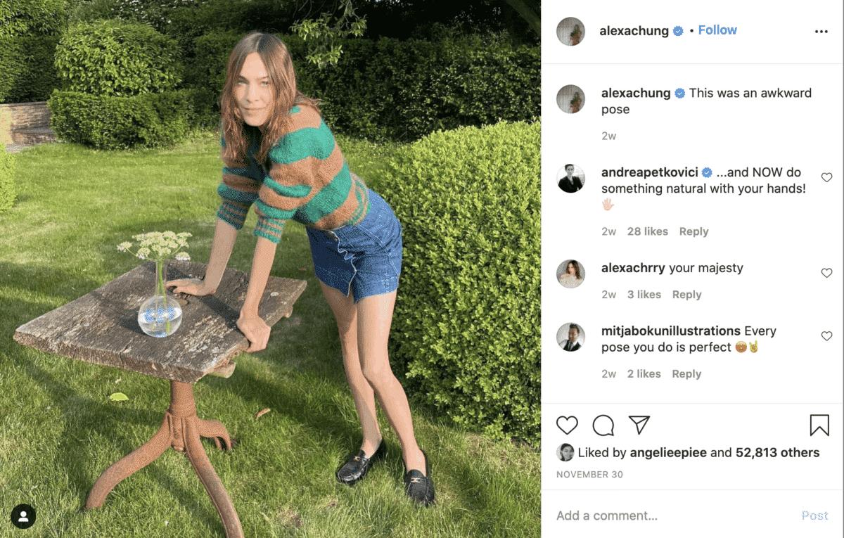 alexa chung instagram fashion influencer