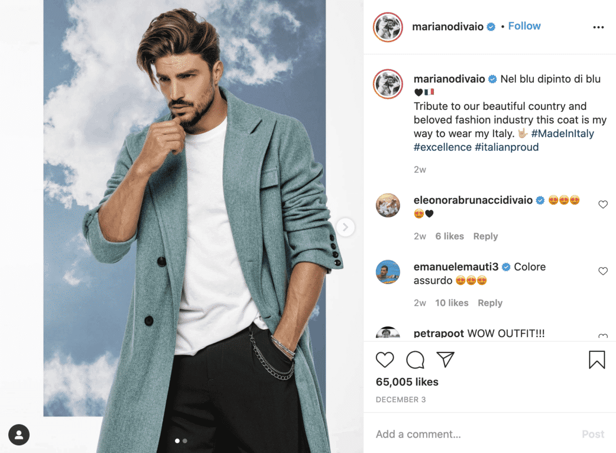 Mariano Di Vaio instagram fashion influencer
