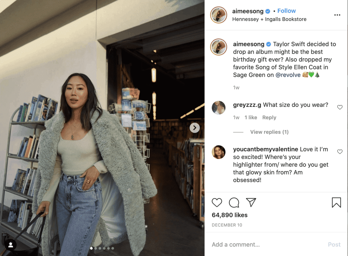 Aimee Song instagram fashion influencer