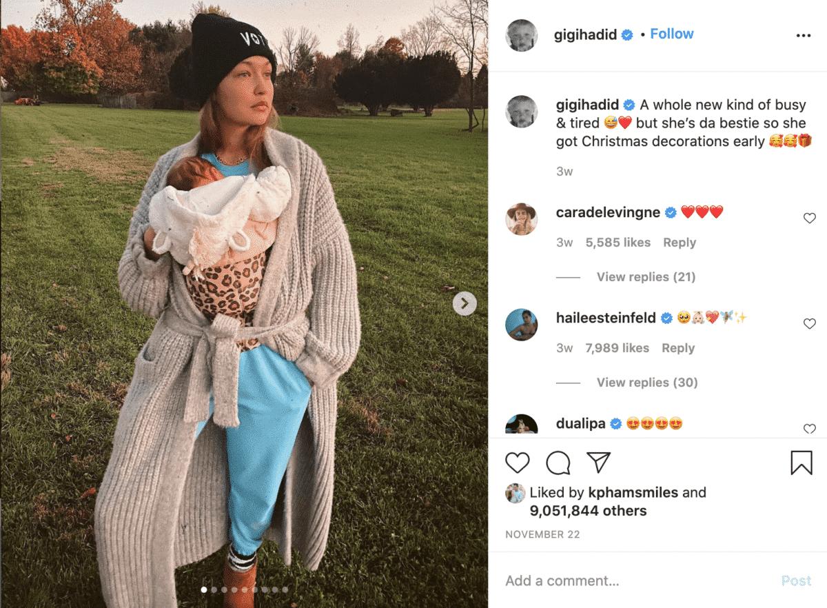 Gigi Hadid instagram fashion influencer