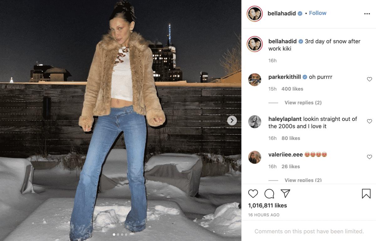bella hadid instagram fashion influencer