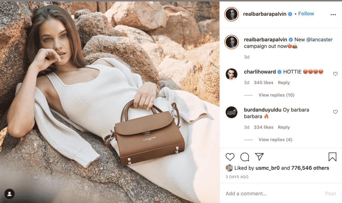 Barbara Palvin instagram fashion influencer