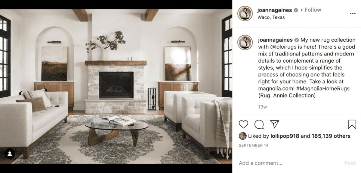 joanna gaines instagram lifestyle influencer