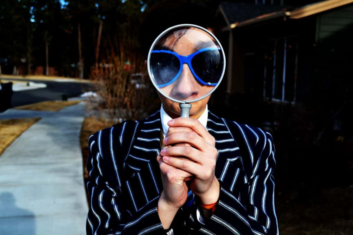 How to Find Relevant Instagram Influencers search for using magnifying glass
