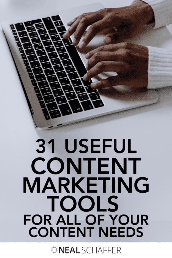 Content marketing tools can make or break your content marketing. Check out this curated list of 31 tools for all of your content needs.