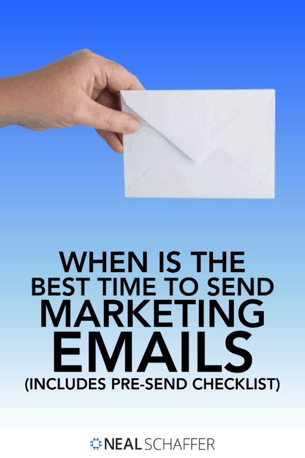 Trying to figure out when is the best time to send marketing emails? Look no further: Use this checklist for email marketing best practices!