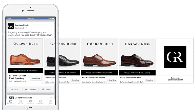 facebook product dynamic ads example