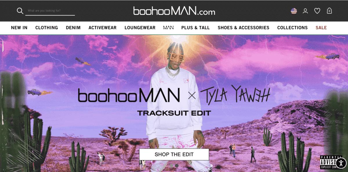 boohooMAN influencer marketing tyla yaweh