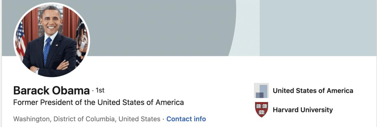 barack obama linkedin profile photo