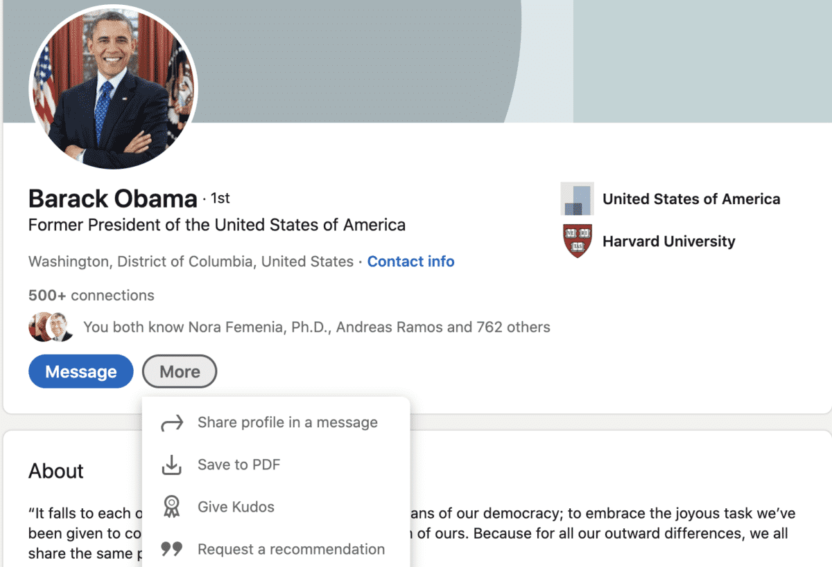 ask for linkedin recommendations