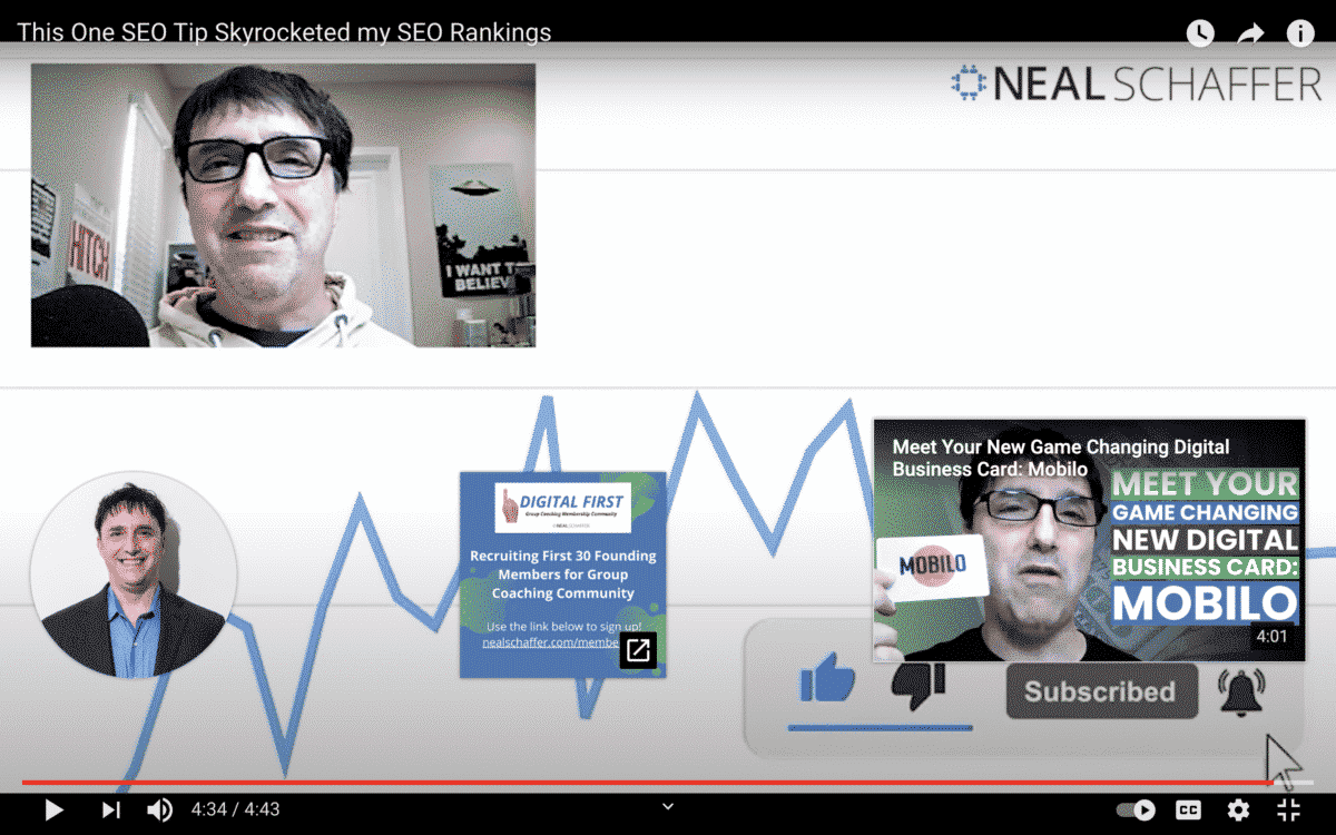 youtube cards endscreen example