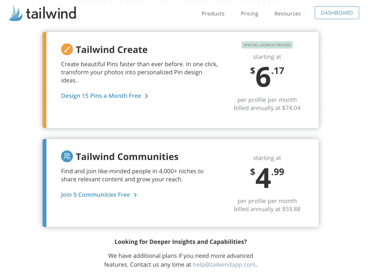is tailwind create free?