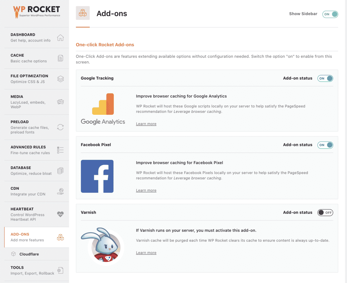 other wp rocket 3rd party integrations