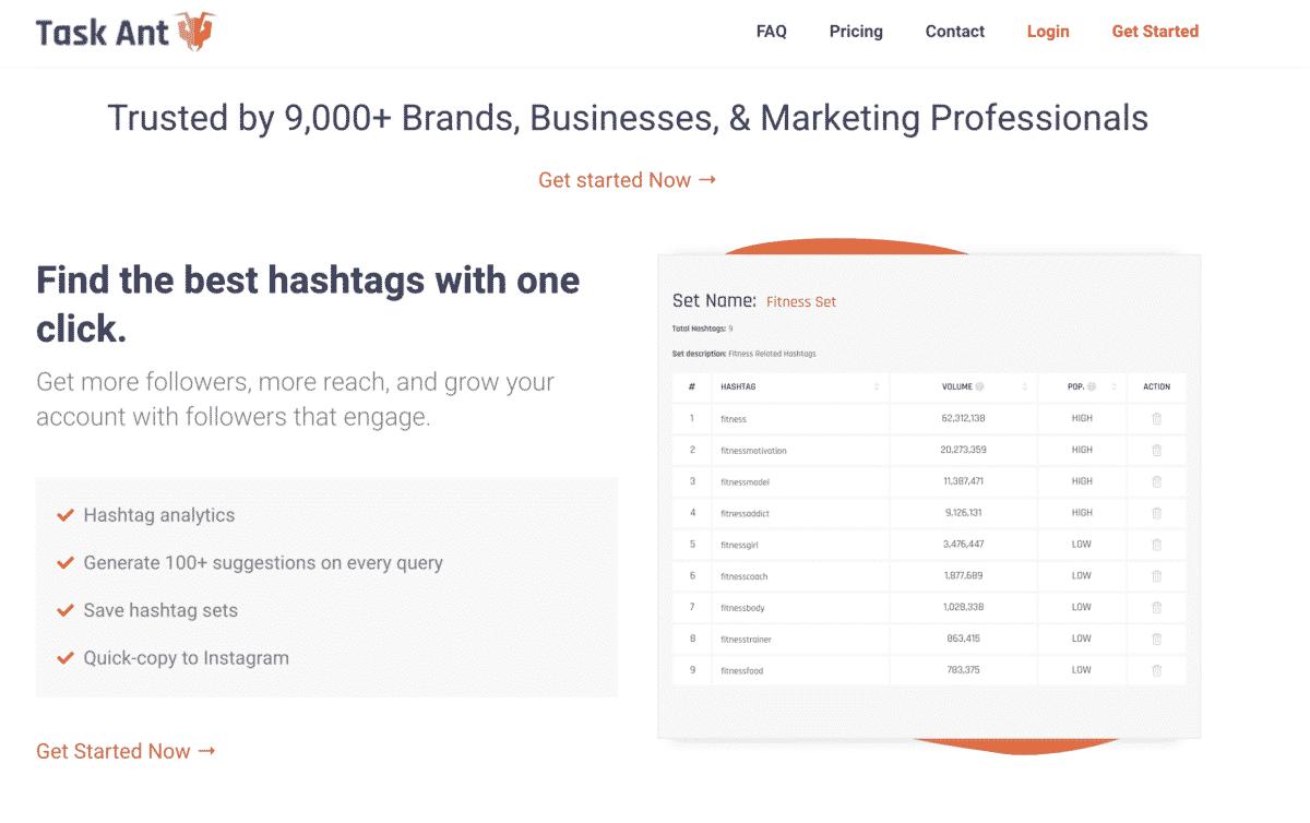 task ant instagram hashtag tool