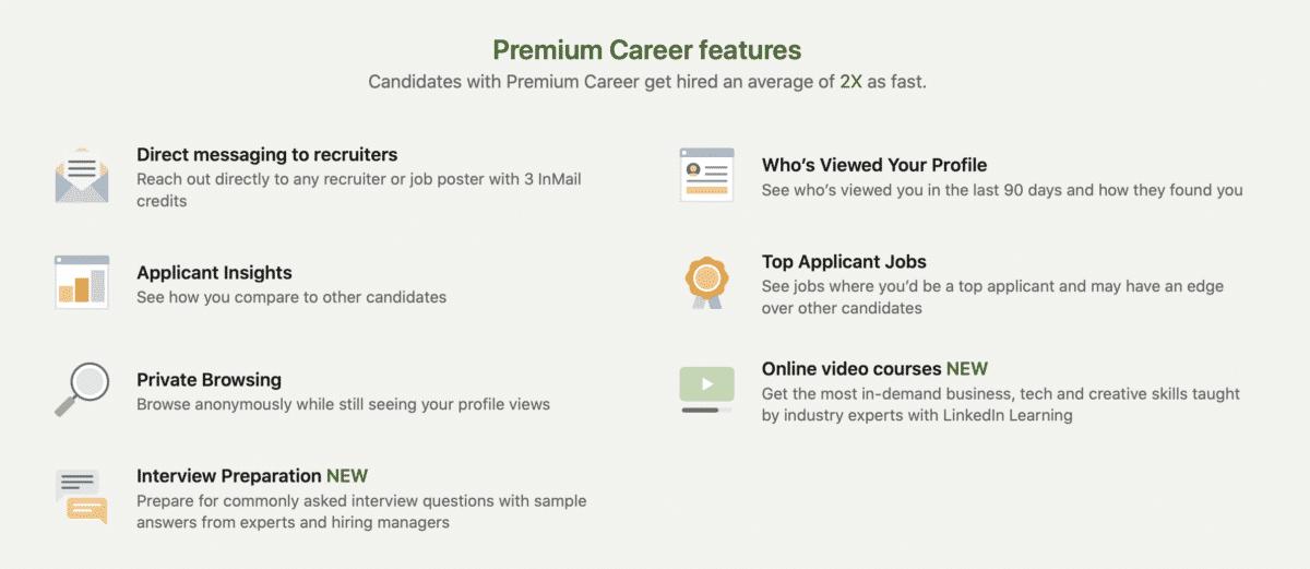 LinkedIn Premium for Jobseekers: Premium Career