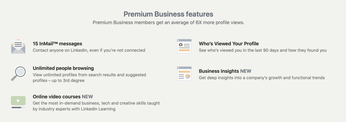 LinkedIn Premium for Sales Professionals and Leaders: Premium Business