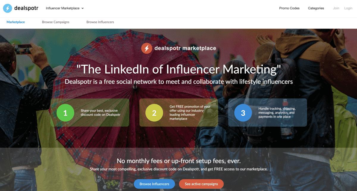 dealspotr the linkedin of influencer marketing
