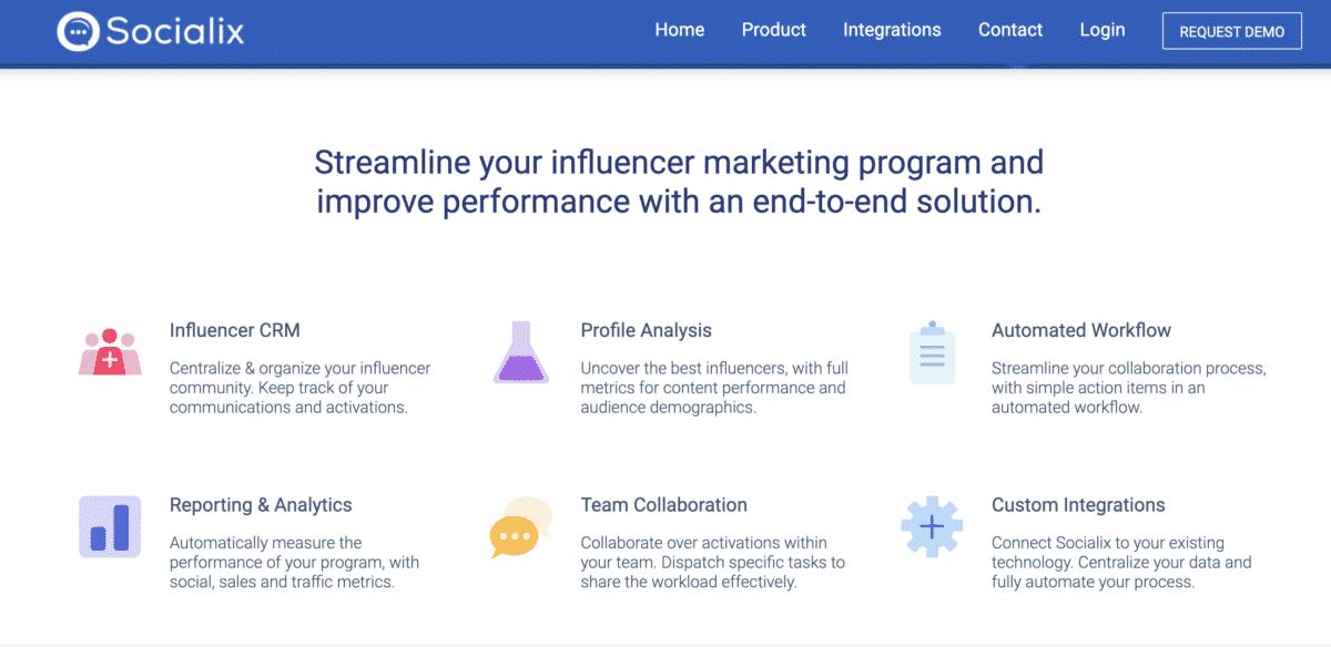 Socialix influencer relationship marketing tool