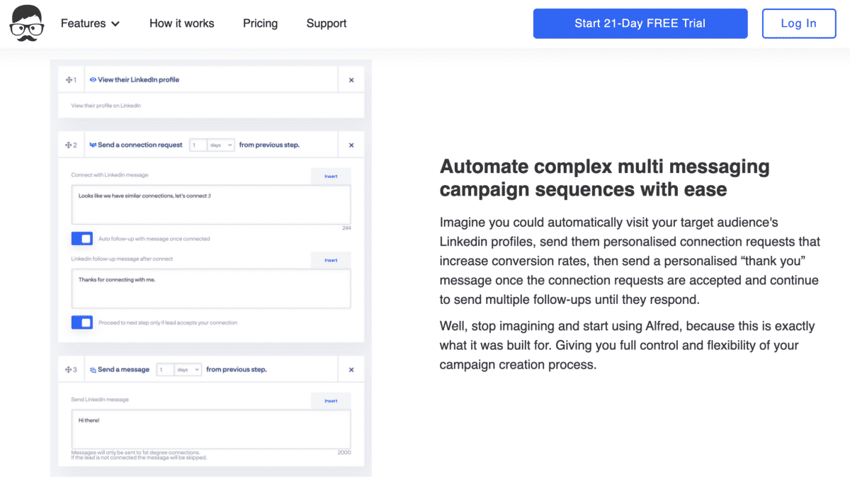 meet alfred linkedin campaign automation tool