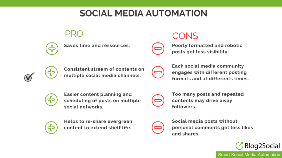 social media automation pros and cons