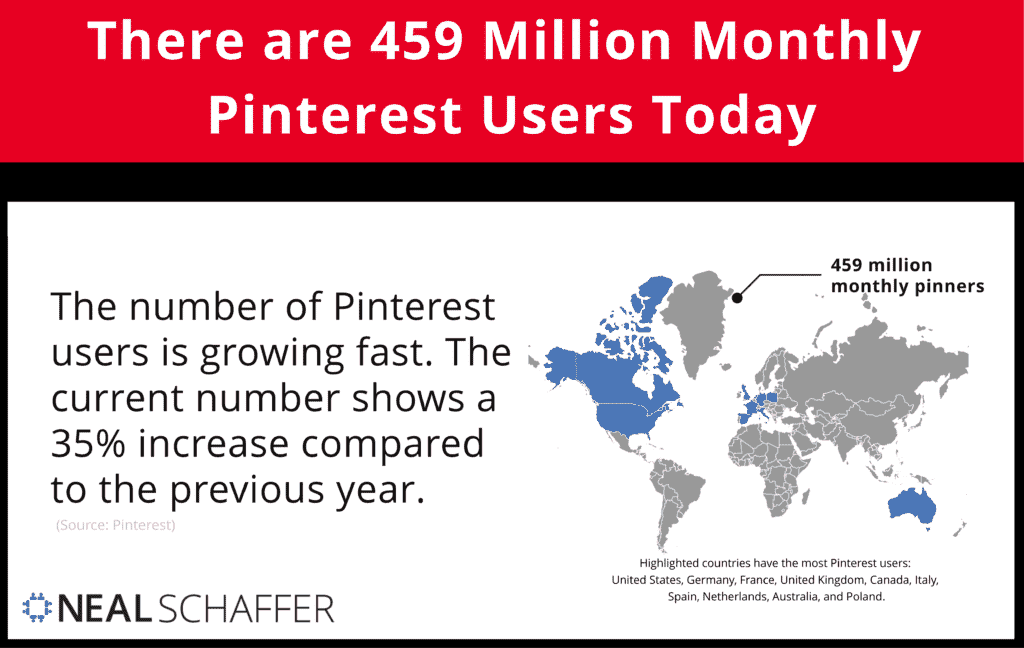 There are 459 Million Monthly Pinterest Users Today.