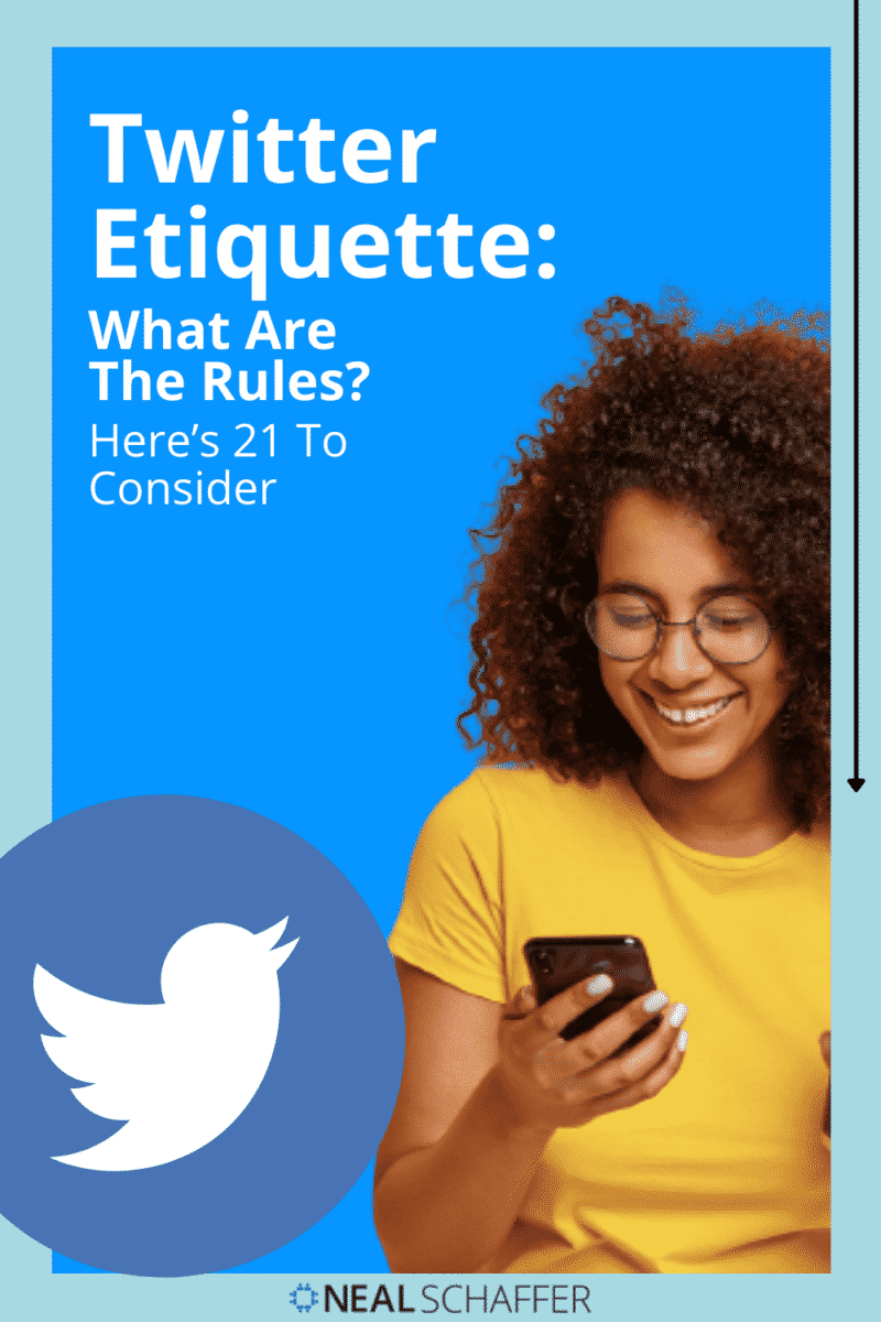 Unless you're an experienced Twitter user, it can be a strange place. Read this post on 21 Twitter etiquette rules so you don't make mistakes