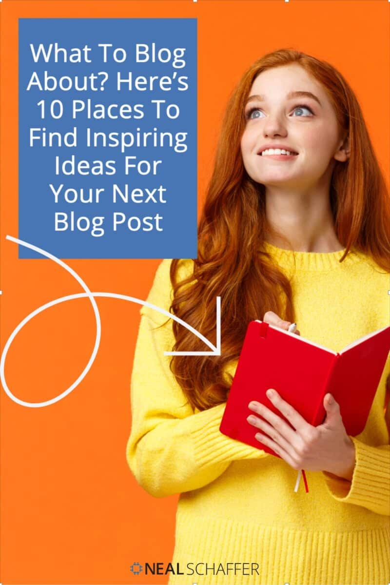 Can't figure out what to blog about? Here are 10 places to find inspiration for that next blog post, together with recommended post types.